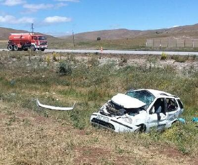 Sivas'ta otomobil şarampole devrildi: 7 yaralı