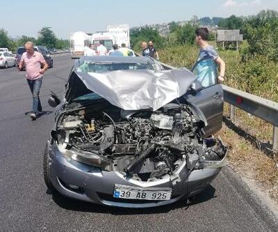 Otomobil TIR ile çarpıştı: 1 yaralı