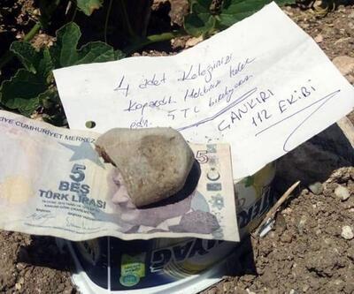 Bahçeden kelek yiyen 112 ekibi para ve not bıraktı