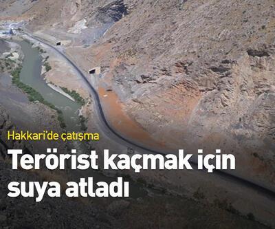 Hakkari'de çatışma çıktı, terörist Zap Suyu'na atladı