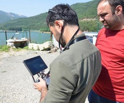 Bursa'da barajlar drone ile havadan da kontrol ediliyor