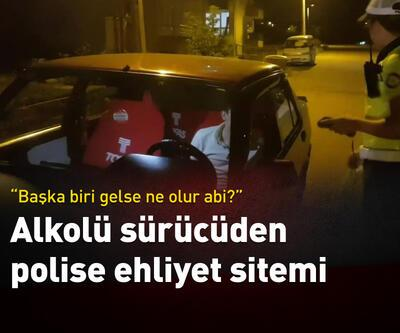 Alkollü sürücüden polise ilginç ehliyet tepkisi