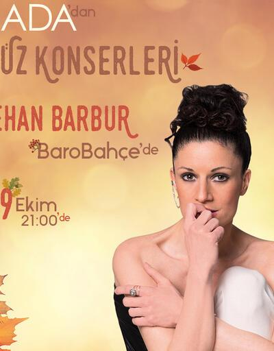 Jehan Barbur 9 Ekim'deAda Baro Bahçe'de