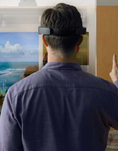 HoloLens'in  Başlat  menüsü görüldü