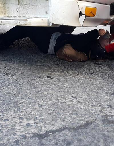 Genç kadın hafriyat kamyonunun altında kaldı
