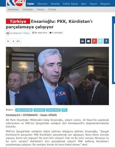 AK Partili Ensarioğlu: PKK, Kürdistan'ı parçalamaya çalışıyor