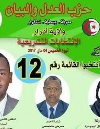 Cezayir'de seçim afişlerinde kadın adaylar yerine temsili çarşaflı görselleri