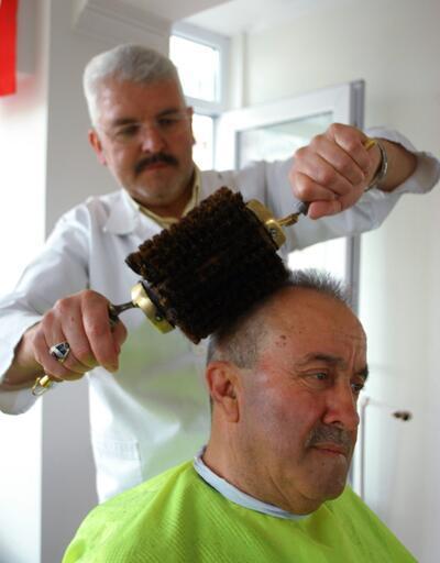 En büyük hayali tarihi fırça ile Erdoğan'ın saçını taramak