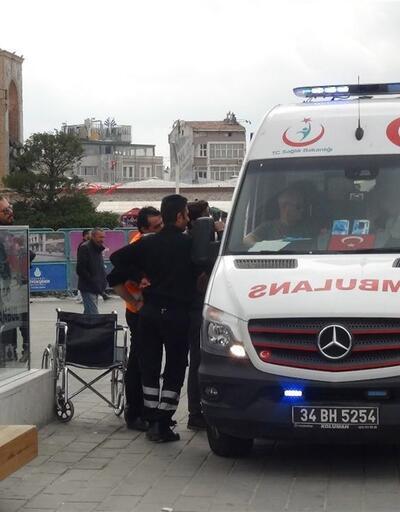 Taksim metrosunda yürüyen merdiven kazası