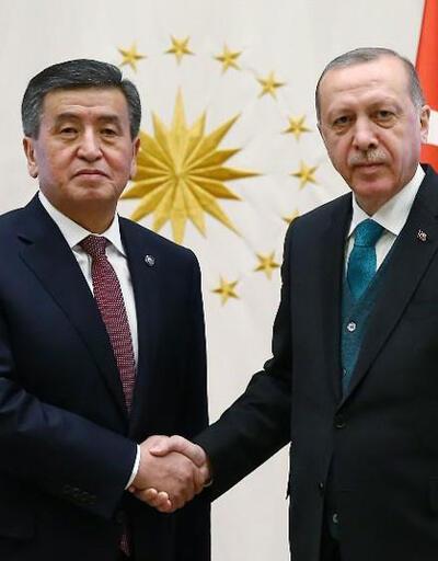 Cumhurbaşkanı Erdoğan Kırgızistan Cumhurbaşkanı Sooranbay Ceebekov'u ağırladı