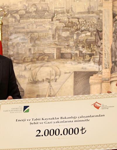 Enerji Bakanlığı'ndan şehit yakınları ve gazilere 2 milyon TL'lik bağış