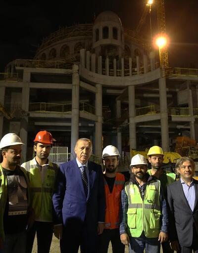 Cumhurbaşkanı Erdoğan Taksim Meydanı'na gitti