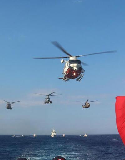 Türk gemileri Doğu Akdeniz'de: KKTC'de büyük tatbikat