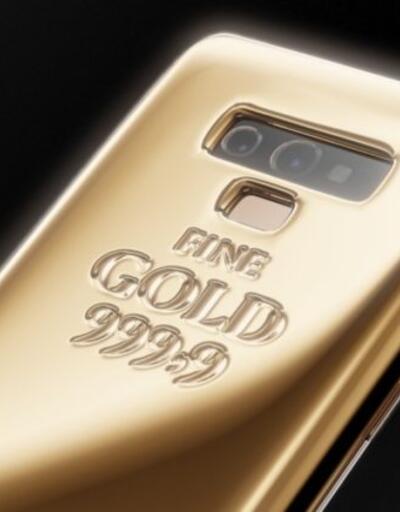 Altın kaplamalı Note 9 çıktı