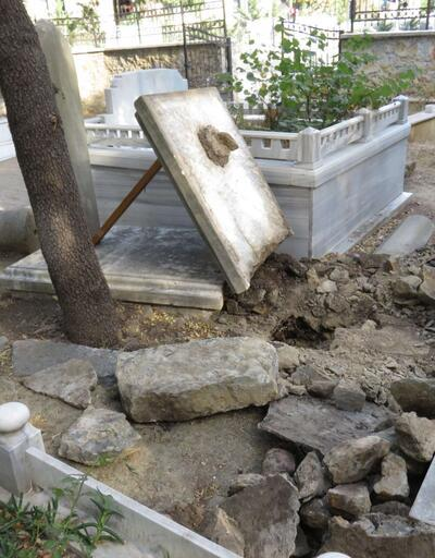 İçerenköy mezarlığında şoke eden olay!