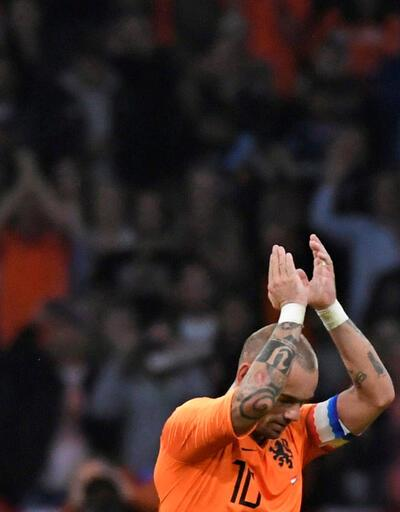 Sneijder Hollanda Milli Takımı'na böyle veda etti