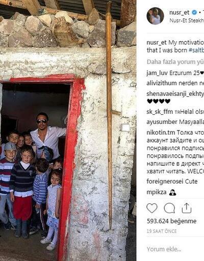 Nusret Erzurum'a gitti: Paylaşımı rekor kırdı