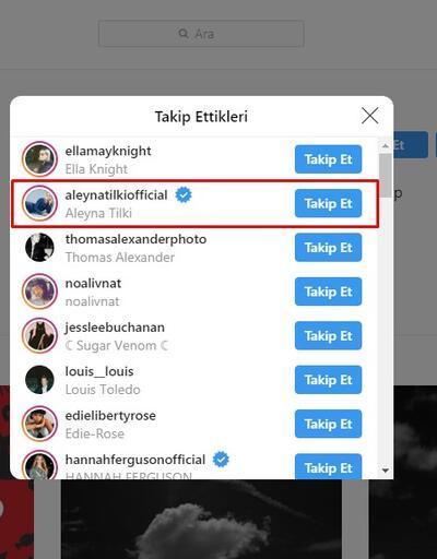 Aleyna'dan takibe takip!