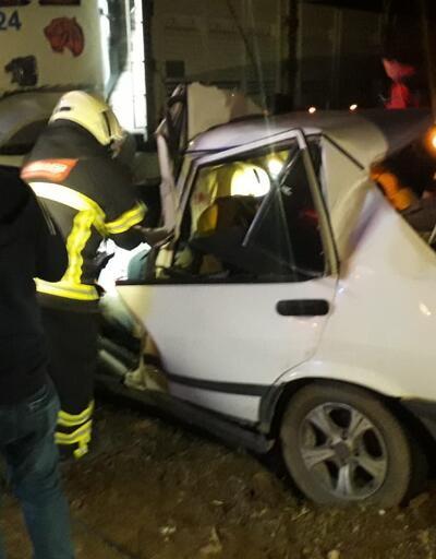 Gediz'de trafik kazası: 1 ölü 1 yaralı