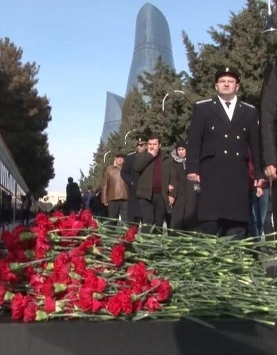 Bakü'de 'Kara Ocak' katliamının kurbanları anıldı