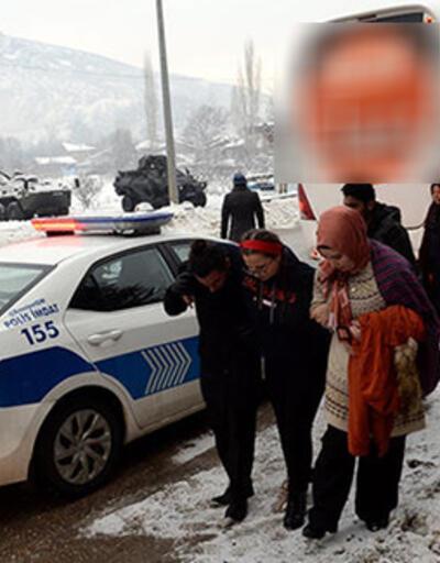 Şoförün ne yaptığını gören yolcular hemen polisi aradı