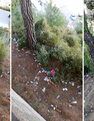 Hastalar ve yakınları hastane bahçesini çöp alanına çevirdi