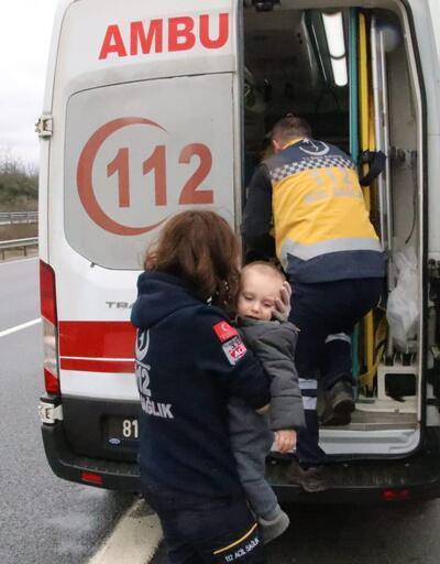 Kazada sürücü ve eşi öldü, bebeğin burnu bile kanamadı