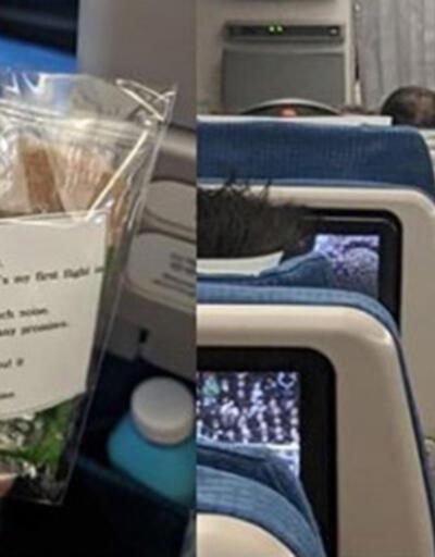 Anne uçaktaki 200 yolcuya sürpriz yaptı