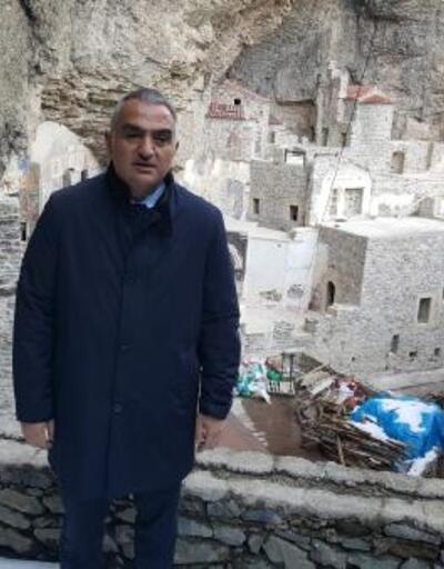 Bakan Ersoy, restorasyondaki Sümela Manastırı'nın ikinci etabı için tarih verdi