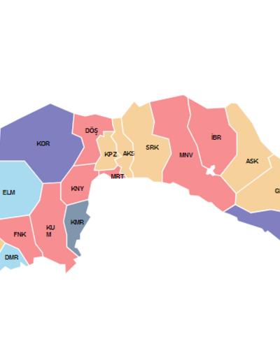 2019 yerel seçimlerinde 30 büyükşehirde sonuçlar