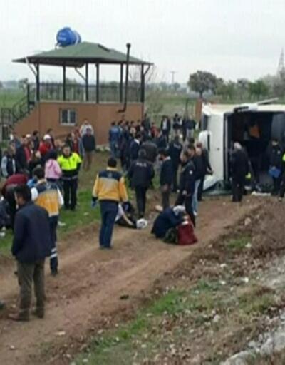 Denizli'de tur otobüsü devrildi: 34 öğrenci yaralandı