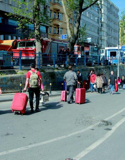 Taksim'de ilginç görüntü