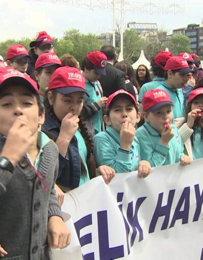 Öğrenciler trafik kurallarına dikkat çekti