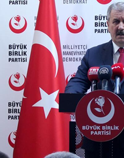 BBP lideri Destici İstanbul'da destekleyecekleri ismi duyurdu