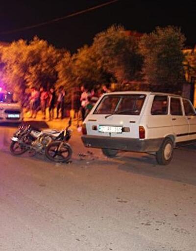 Otomobil ile çarpışan motosikletin sürücüsü yaralandı