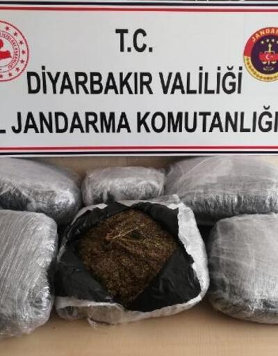 Diyarbakır'da 47 kilo esrar ele geçirildi