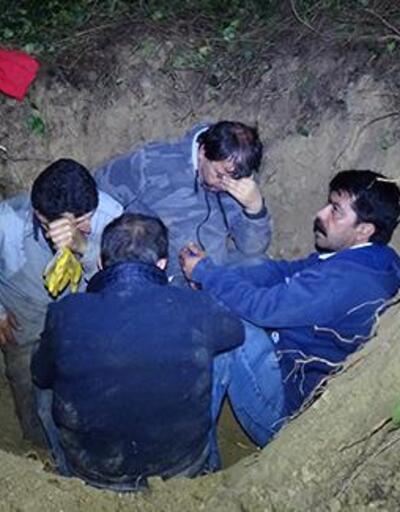 Kaçak kazı yapan 5 kişiyi suçüstü yakalandı