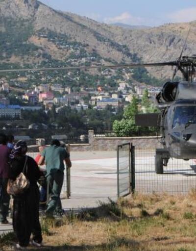Ayı saldırısına uğrayan dağcı, helikopterle hastaneye ulaştırıldı