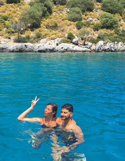Şevval Şahin ve Pakistanlı sevgilisi tatilde