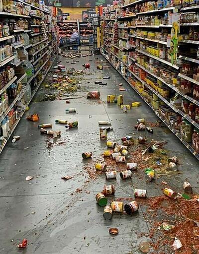 California'da 3 gün içinde ikinci deprem... ABD'den korkutan görüntüler