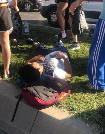 Maltepe'de 4 kişinin yaralandığı kaza kamerada