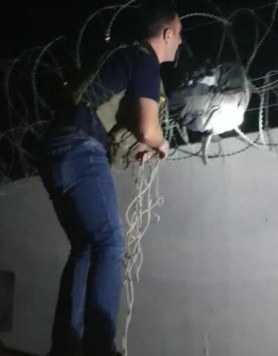 Suriye'den, Türkiye'ye atılan 15 kilo patlayıcı sınır tellerine takıldı