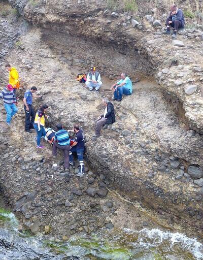 Sinop'ta 30 metrelik uçurumdan düşen şahıs yaralandı