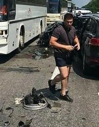 Zelenskiy'nin konvoyu kaza yaptı