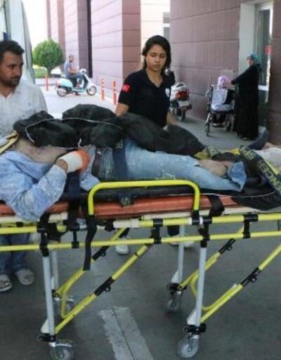Adıyaman'da iskeleden düşen inşaat işçisi yaralandı