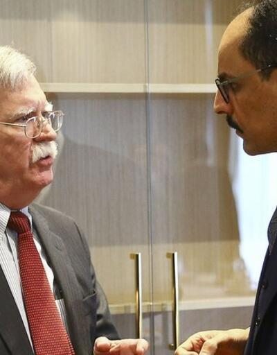 Cumhurbaşkanlığı Sözcüsü Kalın, Bolton'la görüştü