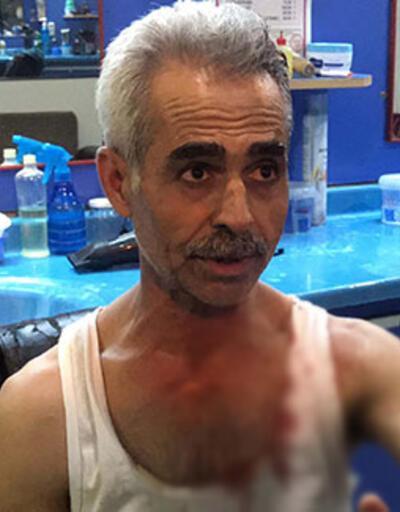 Berberi 'kadına neden baktın?' diyerek dövdüler