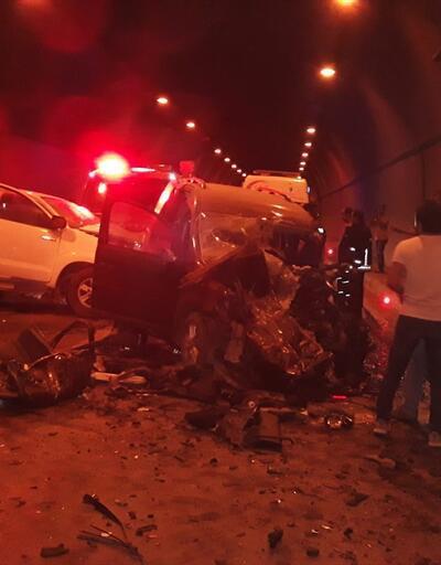 Tünelde feci kaza: Yaralılar var