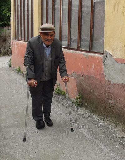 Yaşlı adamın akülü tekerlekli sandalyesi çalındı