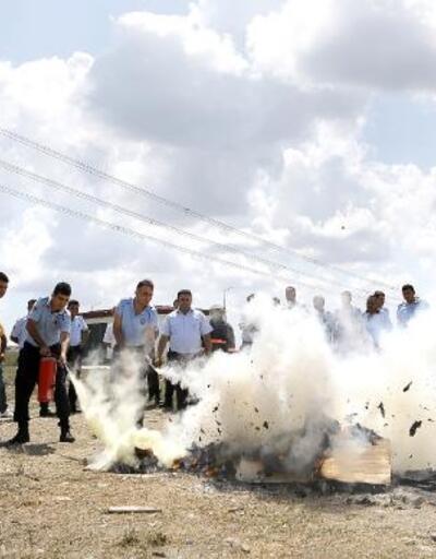 İtfaiyeden infaz memurlarına yangın eğitimi